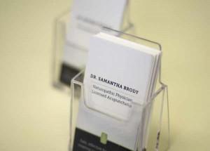 Dr. Samantha business cards