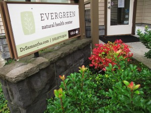 Evergreen Natural Health Center sign